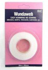 Wundaweb Hem Easy Hemming Tape.20m * 20mm. Iron On Take Up Trouser Skirt Etc