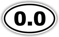 "0.0 Funny Anti-Running 5"" Decal Sticker Car Truck Window Bumper Jogging Marathon"