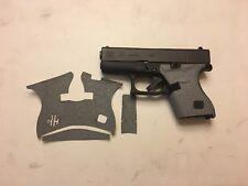 HANDLEITGRIPS Tactical Textured Gray Rubber Gun Grip Wrap GUN Parts for Glock 43