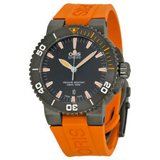 Oris Aquis Date Black Dial Orange Rubber Mens Watch 01 733 7653 4259-07 4 26 34