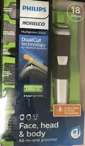 Philips Norelco 5000 Multigroom Hair Trimmer with 18 PIECES