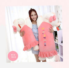 LARGE HIGH QUALITY PIG STUFFED ANIMAL PLUSH SOFT TOY PILLOW / CUSHION 47''/120CM