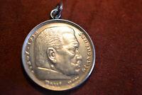 Charivari Anhänger 5 Reichsmark Silber Paul von Hindenburg 1935
