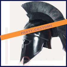 Medieval Greek Corinthian Helmet with Black Plume Armor Knight Spartan