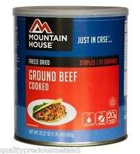 1 - Can - Ground Beef Cooked - Mountain House Freeze Dried Emergency Food Supply