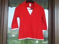 Top, Shirt von Quelle. Rot, hellblau oder grün. Gr. 40/42. Neu mit Etikett