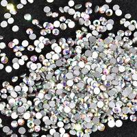 3D Nail Art Tips Flat Back Gem Crystal Glitter Rhinestone Charm DIY Decoration