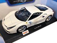 Maisto 1:18 Scale - Ferrari 488 GTB - White - Diecast Model Car