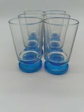 Italian Footed Blue Glass Drinking Glasses Made In Italy  Drinkware Barware