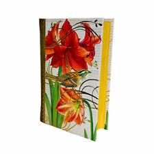 Punch Studio Christmas Amaryllis Birds Book Decorative Desk Organizing Box