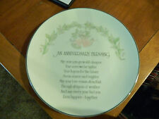 Vintage Anniversary Blessing Designers Collection Keepsake Porcelain Plate