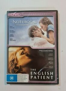 The Notebook /The English Patient. Region 4. 2 DVD  disc set. Brand new & Sealed
