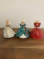 3 Holiday Barbie Hallmark Keepsake Ornaments 1993 1994 1995