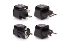 4-Pack Travel Adapters for All of Europe (Type C, E, F, G J, L) - New