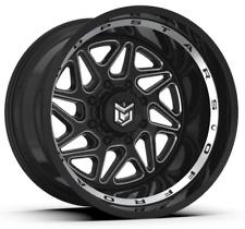 22x12 Dropstars 657BM Rims Black Offroad Wheels Fit 6 lugs Chevy Silverado F150