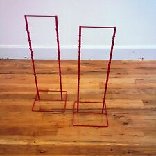 2 - Double Round Strip Potato Chip, Candy Clip Counter Display Racks in Red