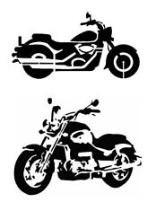 "Motorcycle Motorcycles Bike Bikes 11"" x 8.5"" Stencil Fast Free Shipping"