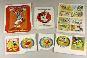 PRL) WALT DISNEY LE JOURNAL DE MICKEY PICSOU MAGAZINE ADESIVI STICKERS AUFKLEBER