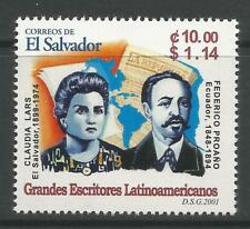 STAMPS-EL SALVADOR. 2001. Latin American Writers. SG: 2573. Mint Never Hinged.