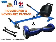Hoverboard with Hoverkart PACKAGE DEAL with Extra Pair of Straps
