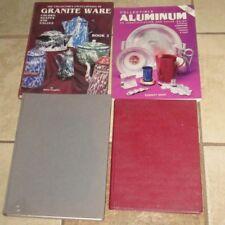 Lot 4 Collector Books Aluminum Granite Ware Pewter English American Silver