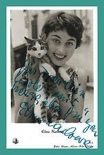 ELMA KARLOWA | Schauspielerin | Original-Autogramm auf Kolibri-Starpostkarte