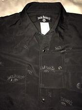 Mens Jack Daniel's Old No. 7 Brand Shirt Large Black Snap Button Long Sleeves