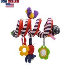 Kid Baby Crib Cot Pram Hanging Rattles Spiral Stroller Car Seat Toy