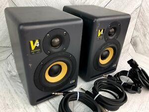 KRK V4 S2 Speakers Active Studio Monitors Pair Series II Excellent Sound Quality