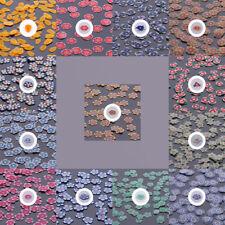 FIMO Scheiben Blumen Motive geschnitten Nail Art Zubehör Einleger Design Basteln