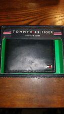 Tommy Hilfiger Men's Black Leather Billfold/Wallet NEW