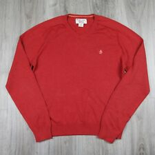 Vintage Mens Penguin V Neck Pima Cotton Jumper Sweater L Musingwear Original