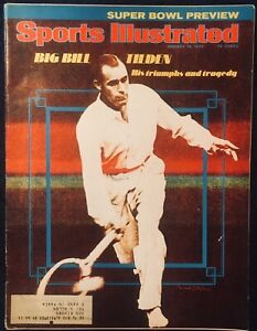 1.13.1975 BILL TILDEN Sports Illustrated Tennis - SUPER BOWL PREVIEW