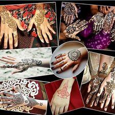 Stencils for Henna Tattoos (6 Sheets) Self-Adhesive Body Art Temporary Tattoo