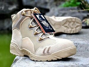 US Army Tactical Comfort Desert Leather Combat Military Boots Mens US Army Shoes
