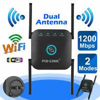 Routeur réseau amplificateur de signal de répéteur de gamme WiFi sans 1200Mbps