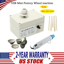 Portable Usb Mini Pottery Making Machine Kit Ceramic Craft Tool Hot Air Gun 110V