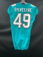 #49 JUNIOR SYLVESTRE MIAMI DOLPHINS GAME USED/TEAM ISSUED AUTHENTIC NIKE JERSEY
