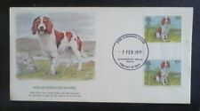 First day of issue, 1979 Wales, Honoring the Welsh Springer Spaniel , Tied-pair