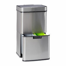 Mülltrennsystem 3fach Müllsammler Abfallsammler Abfalleimer Mülleimer Papierkorb