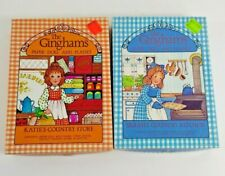 Ginghams Paper Dolls 2 Box Lot Sarahs Country Kitchen Katies Store Vintage 70s