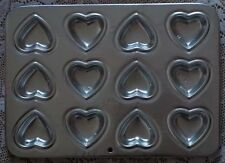 ~ New 12 Heart Mini Cookie Muffin Baking Pan Aluminum ~