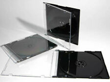 100 x Single CD Jewel Case Ultra Slim Black 5.2 mm Spine Case UK Stock