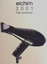 ELCHIM 2001 HIGH PRESSURE HAIR DRYER BLACK 2000W VALID LIFETIME WARRANTY ITALY