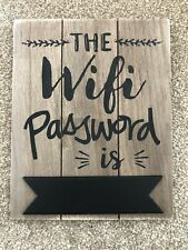Wooden Rustic, Plaque The Wifi Password Is Blackboard Sign Home, Cafe, Pub Hotel
