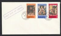 Jamaica Jamaican First Day Cover FDC Kingston FDI 1969 Christmas Set on Cover