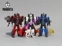 "Mini G1 Seeker Elites Jet Team Decepticons Dirge Thrust Ramjet 4"" Action Figure"