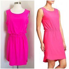 Athleta Astra Dress Sleeveless Cinched Waist Athleisure Hot Pink Womens Size 10