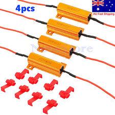 12V 50W 6Ω 4pcs LED Load Resistor Indicator Flash Rate Relay Bulbs Ballast AU