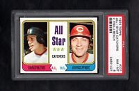 1974 TOPPS #331 ALL-STAR CATCHERS FISK/BENCH PSA 8 NM/MT CENTERED!
